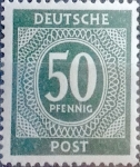 Sellos de Europa - Alemania -  Intercambio 0,20 usd 50 pf. 1946