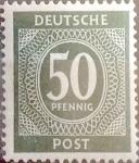 Stamps Germany -  Intercambio 0,20 usd 50 pf. 1946