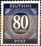 Sellos de Europa - Alemania -  Intercambio nfxb 0,20 usd 80 pf. 1946