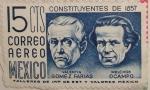Stamps : America : Mexico :  constituyentes de 1857 Valentin Gomez Farias Melchor Ocampo
