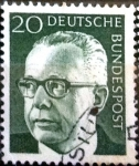 Stamps Germany -  Intercambio 0,20 usd  20 pf. 1970