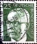 Sellos de Europa - Alemania -  Intercambio 0,20 usd  25 pf. 1970