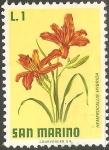 Sellos del Mundo : Europa : San_Marino : hemerocallis hybrida-Lirio de día
