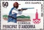 Stamps : Europe : Andorra :  Intercambio 0,90 usd 50 pta. 1980