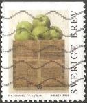 Stamps Sweden -  Apples in a wooden crate-manzanas en caja de madera