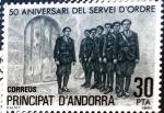 Stamps : Europe : Andorra :  Intercambio 0,90 usd 30 pta. 1981