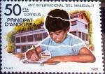Stamps : Europe : Andorra :  Intercambio 1,25 usd 50 pta. 1981