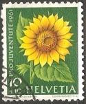 Sellos de Europa - Suiza -  Pro Juventute Sunflower-Girasol