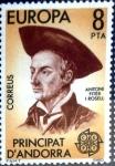 Stamps Andorra -  Intercambio nfyb2 0,35 usd 8 pta. 1980