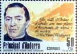 Stamps Andorra -  Intercambio fdxa 0,95 usd 50 pta. 1983