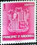 sello : Europa : Andorra : Intercambio 0,20 usd 1 pta. 1982