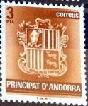 Sellos del Mundo : Europa : Andorra : Intercambio 0,20 usd 3 pta. 1982