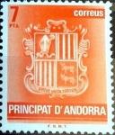 Sellos del Mundo : Europa : Andorra : Intercambio nf4b1 0,20 usd 7 pta. 1982