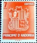 Stamps Andorra -  Intercambio fdxa 0,20 usd 7 pta. 1982