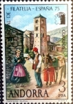 Sellos del Mundo : Europa : Andorra : Intercambio 0,50 usd 3 pta. 1975