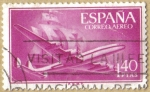 Stamps Spain -  Superconstellation y NAO 'SANTA MARIA'