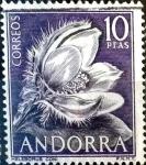 Sellos del Mundo : Europa : Andorra : Intercambio 2,00 usd 10 pta. 1966