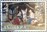 Stamps Andorra -  Intercambio fdxa 0,50 usd 2 pta. 1972