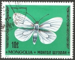 Stamps Mongolia -  Aporia crataegi