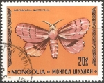Stamps Mongolia -  Gastropacha quercifolia-Mariposa Hoja Seca