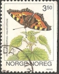 Sellos del Mundo : Europa : Noruega : Mariposas