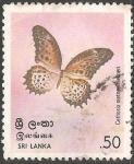Sellos de Asia - Sri Lanka -  cethosia nietneri