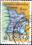 Sellos del Mundo : Africa : Angola : Intercambio 0,20 usd 4 esc. 1955