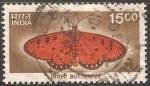 Sellos de Asia - India -  Faune Butterfly