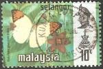 Sellos del Mundo : Asia : Malasia : hebomoia glaucippe
