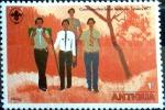 sello : America : Antigua_y_Barbuda : Intercambio 0,20 usd 1 cent. 1977