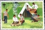 Stamps : America : Antigua_and_Barbuda :  Intercambio 0,20 usd 1/2 cent. 1977