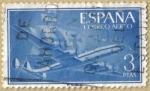 Sellos de Europa - España -  Superconstellation y NAO 'SANTA MARIA'
