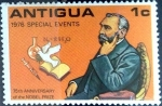 Stamps : America : Antigua_and_Barbuda :  Intercambio 0,20 usd 1 cent. 1976