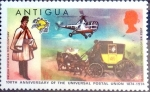 Sellos de America - Antigua y Barbuda -  Intercambio 0,20 usd 1/2 cent. 1974