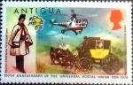 Stamps : America : Antigua_and_Barbuda :  Intercambio 0,20 usd 1/2 cent. 1974