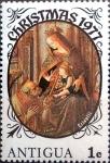 Stamps : America : Antigua_and_Barbuda :  Intercambio 0,20 usd 1 cent. 1977