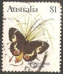 Sellos de Oceania - Australia -  sword grass brown