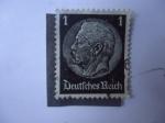 Stamps Germany -  Paul Von Hindenburg (1847-1934) - Deutfches Reich.(Scott/Al:416)