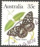 Sellos de Oceania - Australia -  Blue tiger-tigre azul