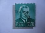 Sellos de Asia - Sri Lanka -  Slephen Senanayake (1884-1952)