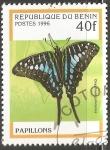 Sellos de Africa - Benin -  Papillon Graphium policenes