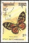 Sellos de Asia - Camboya -  Zagreus Papilio