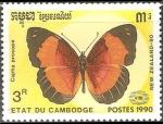 Sellos del Mundo : Asia : Camboya :  Mariposa