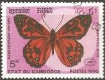 Sellos de Asia - Camboya -  Heteronympha Merope