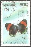 Sellos de Asia - Camboya -  Calithea sapphira