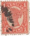 Sellos de Oceania - Australia -  Y & T Nº 78 Queensland
