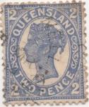 Sellos de Oceania - Australia -  Y & T Nº 79 Queensland