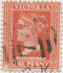 Sellos de Oceania - Australia -  Y & T Nº 102 Victoria