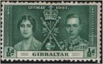 Sellos de Europa - Gibraltar -  Coronaci�n de George VI