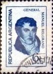Stamps Argentina -  Intercambio 0,20 usd 6 cent. 1970